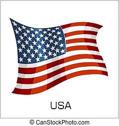 USA flag, flag United States of America vector illustration