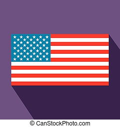 USA flag flat icon