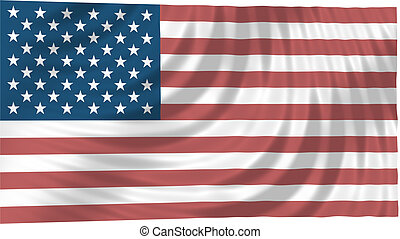 USA Flag - Floating Free United States Flag - The flag of ...