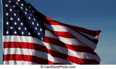 USA Flag Flying Loop