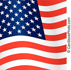 usa flag flying waving background vector
