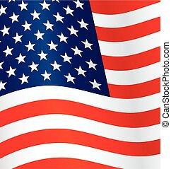 usa flag flying waving background vector