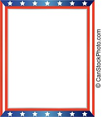 USA flag frame on white background with copy space for your ...