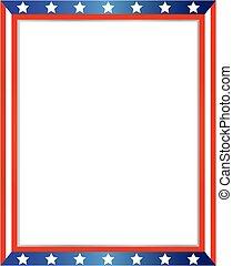 USA flag frame