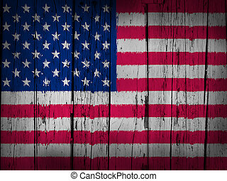 USA Flag Grunge Background