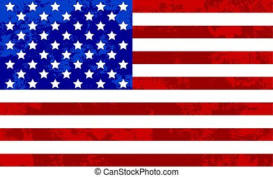 USA Flag Grunge Texture Abstract Background