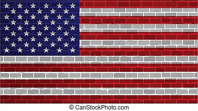 usa flag illustration design graphic