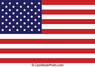 USA Flag, Illustration