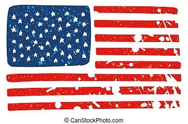 USA flag in a cartoon style Mask
