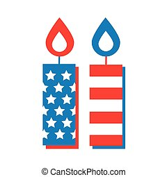 usa flag in candles flat style icon