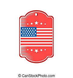 usa flag in frame detailed style icon vector design