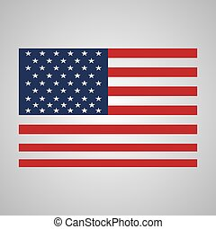 Usa flag in grey gradient background