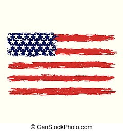 USA flag in grunge style.