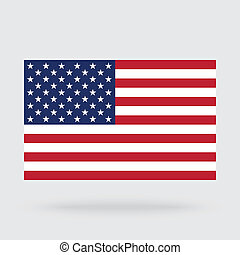 USA flag isolated on background