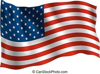 USA flag isolated on white background vector illustration
