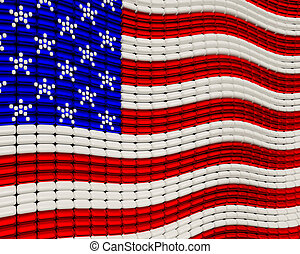 USA Flag jewelry background ornament design