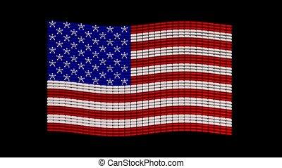 USA flag jewelry design