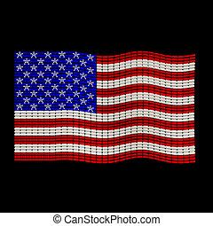 USA Flag jewelry ornament design