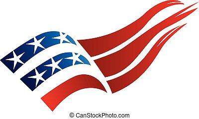 USA Flag logo vector