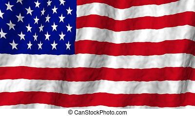USA Flag Looping Animated Background