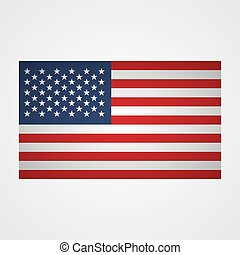 USA flag on a gray background. Vector illustration