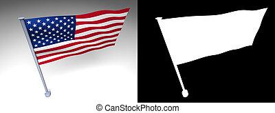 USA flag on a pole