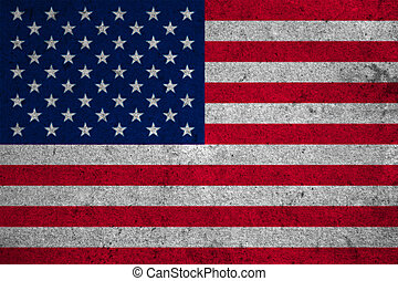 usa flag on an old grunge background