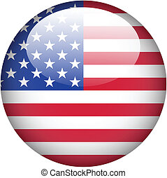 USA flag on button