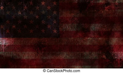 USA flag on grunge bloody background
