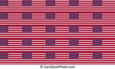 USA flag on infinite zoom