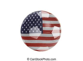 USA flag on Soccer ball