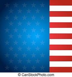 USA flag pattern background. Illustratiom EPS10