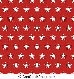USA flag seamless pattern. White stars on a red background