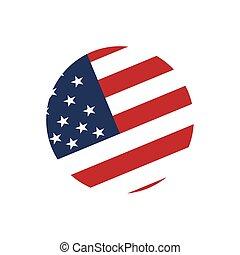Usa flag sign background icon