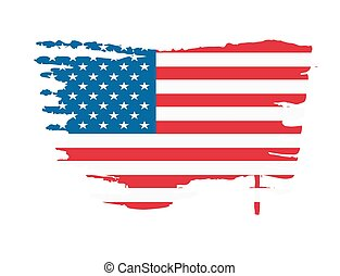 USA flag splash vector illustration