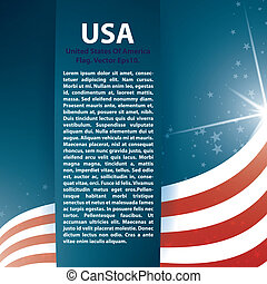 USA flag stars and Text Abstract Background, Zip includes 300 dpi JPG, Illustrator CS, EPS10. Vector with transparency.