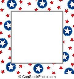 usa flag decoration frame border template usa flag decoration frame