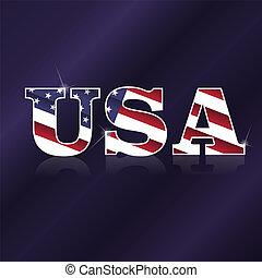 USA flag symbol