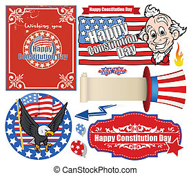 USA Flag theme Constitution Day