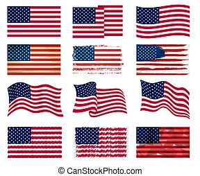 USA flag vector american national symbol of united states...