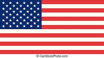 USA flag. Vector flag of United States of America.