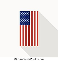 USA Flag Vector Flat Icon