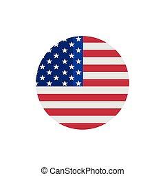 USA flag vector icon.