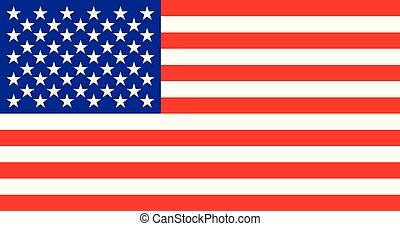 USA flag. vector illustration