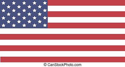 USA Flag. Vector image of USA flag. The Star-Spangled Banner.