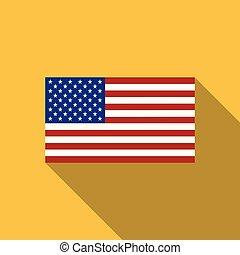 USA Flag. Vector image of USA flag. USA flag background. USA Flag illustration. The Star-Spangled Banner. The color and size of the original. United States of America. United States. America. Vector.