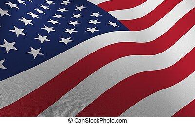 USA FLAG - very high detailed american flag