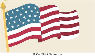 Usa Flag Video animation, HD 1080