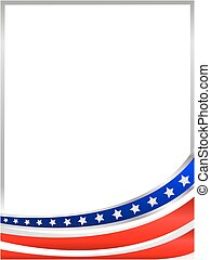 USA flag wave frame