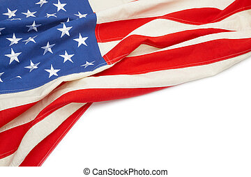 USA flag with place for your text - close up studio shot -...